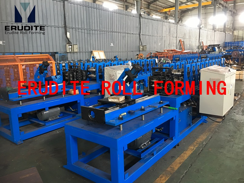 YX16.520.5-50.5 ROLL FORMING LINE FOR DOUBLE FURRING PROFILE WITH SERVO FLYING CUT 60mpm