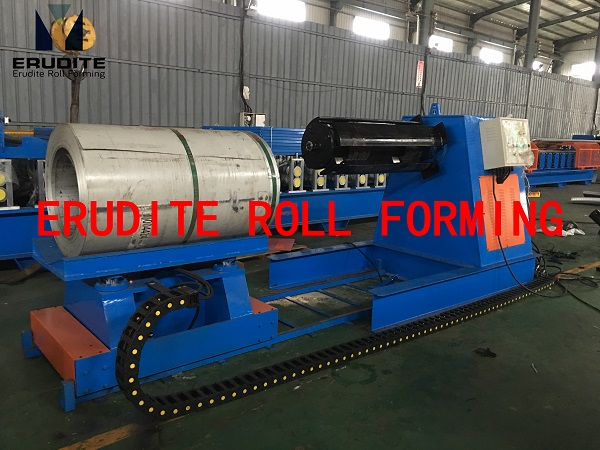 7T×1250MM HYDRAULIC UN-COILER WITH COIL CAR