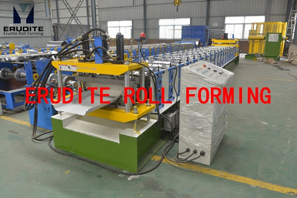 YX70-450/600 ROLL FORMING MACHINE FOR SEAM-LOCK PROFILE, PRE-NOTCHING+PUNCHING & POST PUNCHING+CUTTING