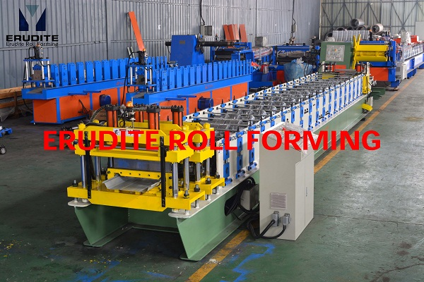 YX70-450/600 ROLL FORMING MACHINE FOR SEAM-LOCK PROFILE, PRE-NOTCHING & POST PUNCHING+CUTTING